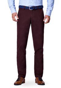Brązowe spodnie Lancerto sportowe, w kolorowe wzory