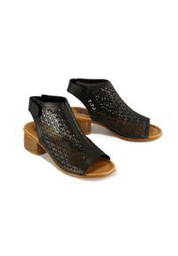 Czarne sandały Rieker Remonte na rzepy