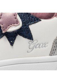 Geox - Sneakersy GEOX - B Djrock G. B B161WB 000BC C0406 White/Pink. Okazja: na uczelnię, na spacer, na co dzień. Zapięcie: rzepy. Kolor: biały. Materiał: skóra. Styl: casual