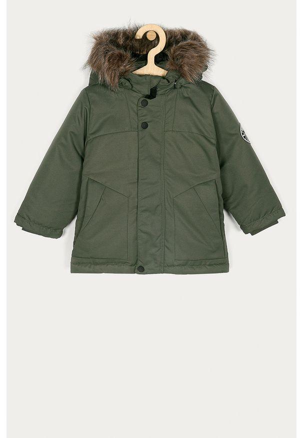 Zielona kurtka Name it casualowa, na co dzień, z kapturem