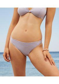 Elya Spe Majtki Bikini Od Kostiumu Kąpielowego - Fioletowy - Etam. Kolor: fioletowy. Materiał: materiał. Wzór: kratka #1