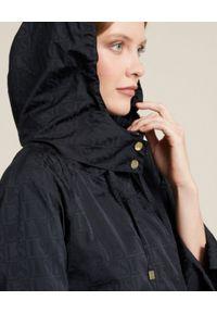 Luisa Spagnoli - LUISA SPAGNOLI - Granatowy płaszcz Variegato. Kolor: niebieski. Materiał: bawełna, dresówka, żakard. Wzór: aplikacja. Sezon: wiosna