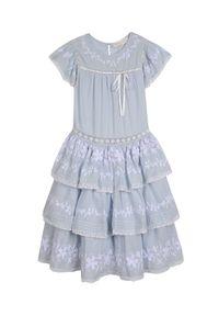 LOVE SHACK FANCY KIDS - Sukienka Callie 3-12 lat. Kolor: biały. Materiał: koronka, materiał. Wzór: haft, aplikacja. Sezon: lato