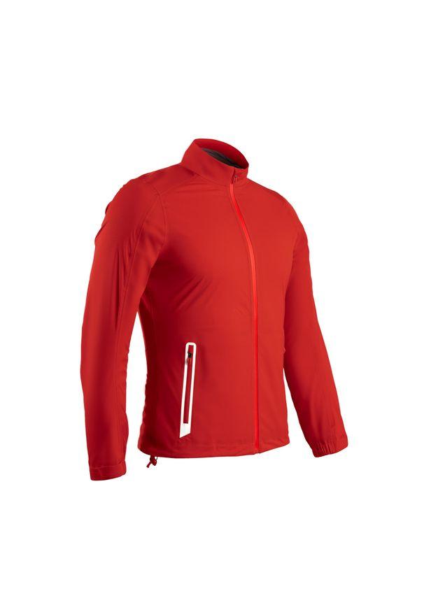 INESIS - Kurtka przeciwdeszczowa do golfa RW500 męska. Typ kołnierza: golf. Kolor: czerwony. Materiał: materiał, poliester. Sport: golf