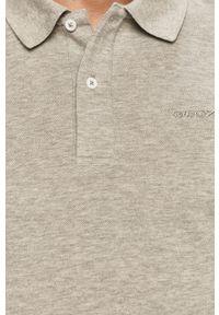 Szara koszulka polo Geox krótka, na co dzień, polo