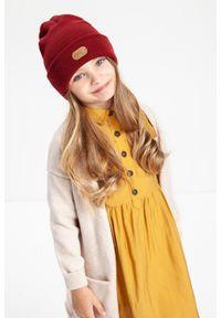 Modna czapka dziecięca PaMaMi - Jasnoszary. Kolor: szary. Materiał: akryl