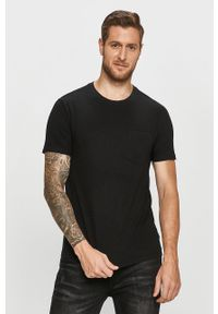 Czarny t-shirt GAP casualowy, na co dzień