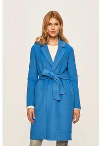 Niebieski płaszcz Patrizia Pepe casualowy, na co dzień, bez kaptura