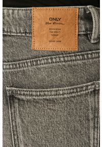 Szare jeansy only z podwyższonym stanem