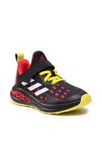 Adidas - Buty adidas - FortaRun Superhero C H67853 Core Black/Cloud White/Vivid Red. Okazja: na uczelnię, na spacer, na co dzień. Zapięcie: rzepy. Kolor: czarny. Materiał: materiał. Szerokość cholewki: normalna. Styl: casual