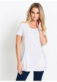 Długi shirt bonprix biały. Kolor: biały. Długość: długie