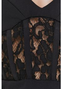 BARDOT - Bardot - Sukienka. Kolor: czarny. Materiał: tkanina. Typ sukienki: dopasowane