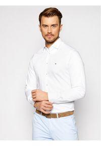 Tommy Hilfiger Tailored Koszula Solid MW0MW16489 Biały Slim Fit. Kolor: biały