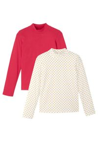 Czerwona bluzka bonprix z nadrukiem, z golfem
