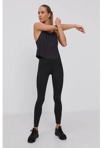 adidas Performance - Top. Okazja: na co dzień. Kolor: czarny. Materiał: materiał. Długość rękawa: na ramiączkach. Styl: casual