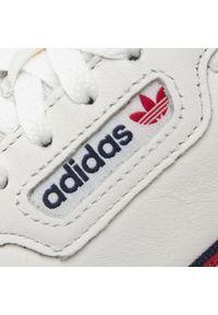 Białe półbuty Adidas z cholewką, casualowe, na co dzień