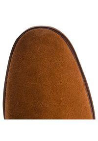 Brązowe buty zimowe Clarks z cholewką, klasyczne