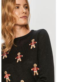 Czarny sweter only długi, casualowy