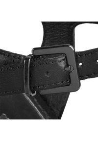 Czarne sandały Tamaris casualowe, z aplikacjami, na co dzień