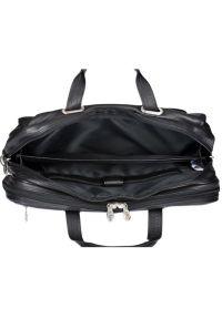Torba na laptopa MCKLEIN Irving Park 15.6 cali Czarny. Kolor: czarny. Materiał: skóra. Styl: sportowy, klasyczny, biznesowy, casual