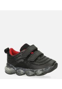 Casu - czarne buty sportowe na rzep casu 788-b. Zapięcie: rzepy. Kolor: czarny