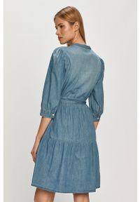 Jacqueline de Yong - Sukienka. Okazja: na co dzień. Kolor: niebieski. Typ sukienki: proste. Styl: casual