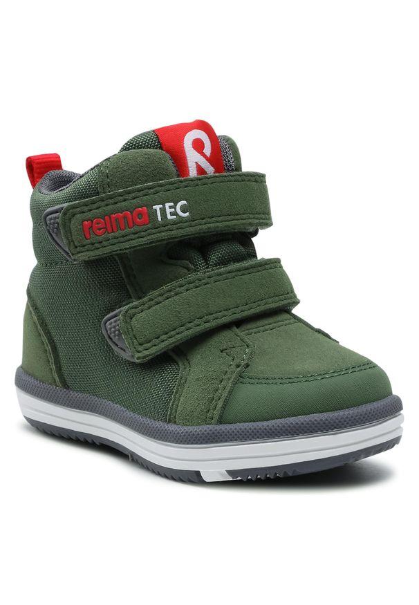 Reima - Trzewiki REIMA - Patter 569445 8930. Kolor: zielony. Materiał: materiał. Szerokość cholewki: normalna. Sezon: zima