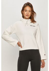 Champion - Bluza bawełniana. Kolor: biały. Materiał: bawełna. Długość rękawa: długi rękaw. Długość: długie