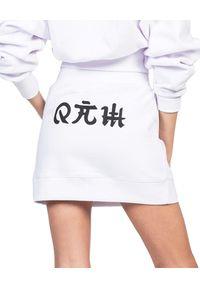 ROBERT KUPISZ - Biała spódnica ORIENT MONSHO. Kolor: biały. Materiał: bawełna. Wzór: nadruk