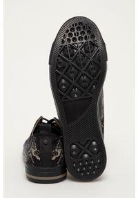 medicine - Medicine - Tenisówki Casual Elegance. Okazja: na co dzień. Nosek buta: okrągły. Zapięcie: sznurówki. Kolor: czarny. Materiał: guma. Styl: casual