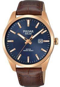 Zegarek Pulsar Zegarek Pulsar Solar męski klasyczny PX3186X1 uniwersalny. Styl: klasyczny
