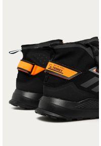 Czarne buty trekkingowe adidas Performance na sznurówki, z cholewką