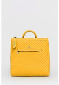 United Colors of Benetton - Plecak. Kolor: pomarańczowy