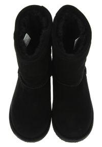 Czarne buty zimowe EMU Australia z cholewką