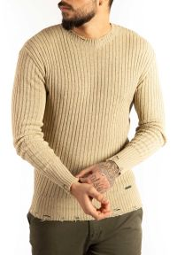 """Takeshy Kurosawa Sweter """"Costina Rott"""". Materiał: prążkowany, dzianina. Wzór: aplikacja"""