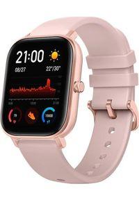 AMAZFIT - Smartwatch Amazfit GTS Różowy (A1914PK). Rodzaj zegarka: smartwatch. Kolor: różowy