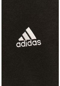 Czarna bluza nierozpinana Adidas casualowa, z nadrukiem, na co dzień