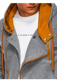 Brązowa bluza Ombre Clothing z kapturem