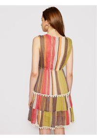 Iconique Sukienka letnia Linda IC21 054 Kolorowy Regular Fit. Wzór: kolorowy. Sezon: lato