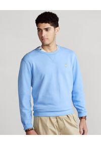 Ralph Lauren - RALPH LAUREN - Niebieska bluza bez kaptura Cabin. Typ kołnierza: bez kaptura. Kolor: niebieski. Materiał: bawełna, jeans. Długość rękawa: długi rękaw. Długość: długie. Wzór: haft