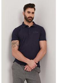 Niebieska koszulka polo Trussardi Jeans na co dzień, gładkie