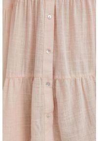 Answear Lab - Koszula. Kolor: różowy. Materiał: tkanina. Długość rękawa: długi rękaw. Długość: długie. Wzór: gładki. Styl: wakacyjny