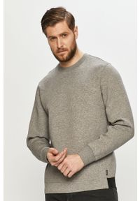 Szara bluza nierozpinana Calvin Klein casualowa, bez kaptura, gładkie