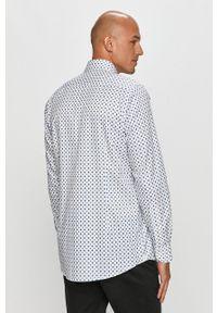 Emanuel Berg - Koszula bawełniana. Typ kołnierza: kołnierzyk włoski. Kolor: biały. Materiał: bawełna