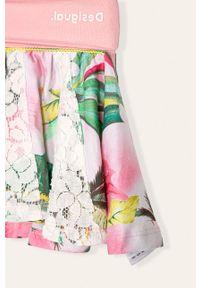 Różowa spódniczka Desigual w kwiaty