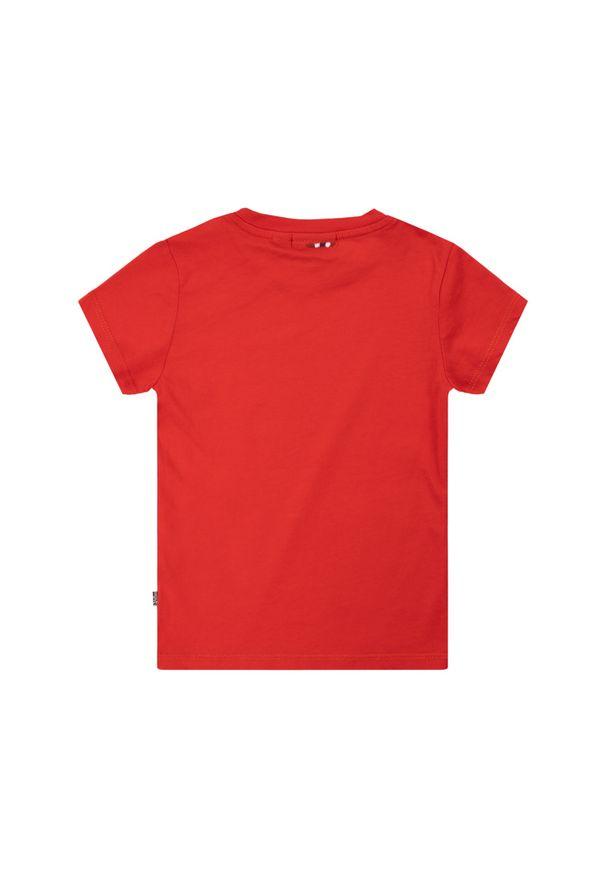 Czerwony t-shirt Napapijri
