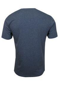 Niebieski t-shirt Pako Jeans casualowy, z dekoltem w serek
