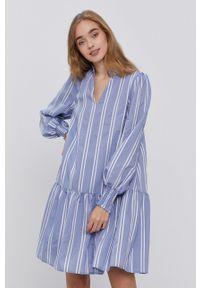 Y.A.S - Sukienka. Kolor: fioletowy. Materiał: tkanina. Typ sukienki: rozkloszowane