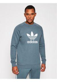 Adidas - adidas Bluza Trefoil GN3471 Szary Regular Fit. Kolor: szary