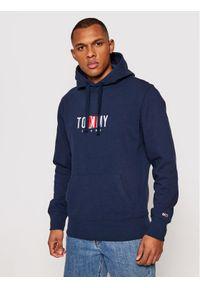 Tommy Jeans Bluza Tjm Timless DM0DM10209 Granatowy Regular Fit. Kolor: niebieski